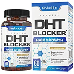 ✅Healthy Hair Growth - Our Premium DHT blocking Hair growth Supplement contains key ingredients (iron, biotin, zinc, saw palmetto) and other ingredients to help support fast healthy hair growth. Great for hair loss, thick hair, hair growth, and for o...