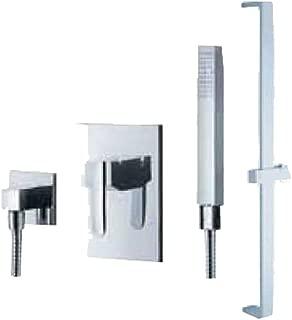 Fluid Faucets F2054-T Penguin Hand shower with Slide Bar, Chrome, 1-Pack