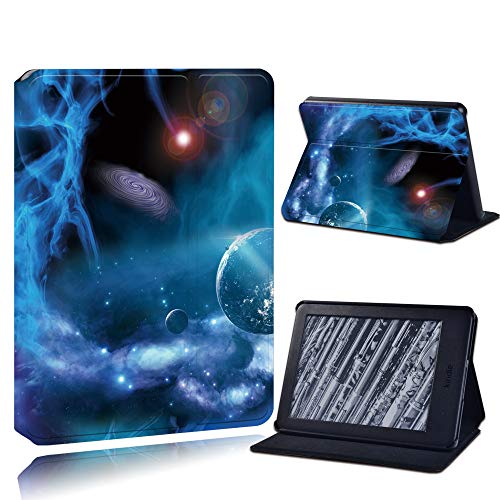 Case For Kindle,Caja De La Tableta Anti-Caída De Cuero De La Cáscara Dura Del Casco Para Kindle Paperwhite 1/2/3/ Paperwhite(5Th/6Th/7Th/10Th)/Kindle (10O /8O), Blue Planet Galaxy, Para Paperwhite 5