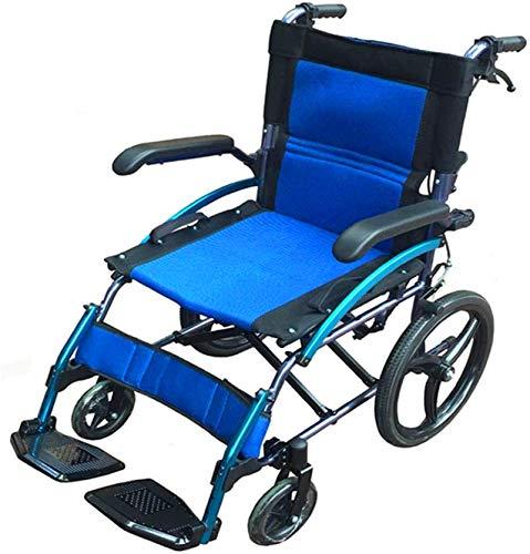 Silla de Ruedas eléctrica Plegable, Silla de ruedas silla de ruedas, silla de rehabilitación médica for la tercera edad, ancianos, discapacitados muy ligero dotado de aleación de magnesio, Lamer brazo