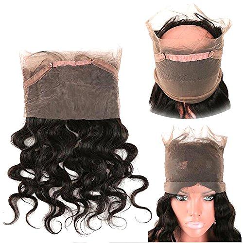 CZ Hair 360 Closure Brazilian Body Wave Virgin Hair 360 Lace Frontal Closure Natural Hairline Circular Closure (360 closure 20 inch)