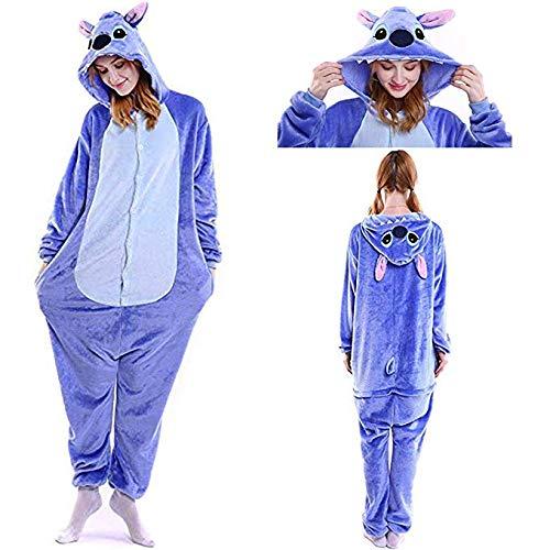 SunRlity Costumes Unisexe Kigurumi Lilo & Stitch Onesie Le Pyjama Film Adulte Ados Cadeau De Noël (Blue, S)