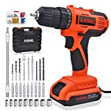Best Cordless Drills - 20V Cordless Drill Driver, JUEMEL 100Pcs Accessories Electric Review