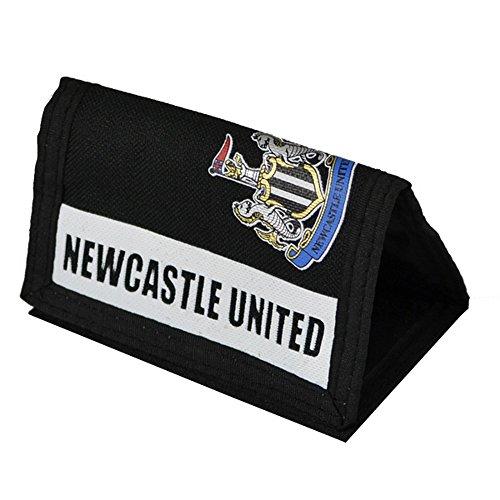Newcastle United FC officiële Focus voetbal Crest klittenband portemonnee (One Size) (zwart/wit)
