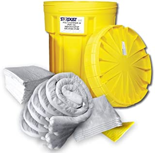 Stardust Spill Products D920P 20 Gallon Oil Only, Spill Kit Includes 20 Gallon Bright Yellow Overpack Drum, 20 Oil Only Sorbent Pads, 6 Oil-Only Sorbent Socks 3