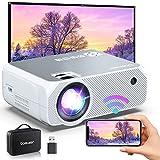 Bomaker Proyector WiFi Full HD 1080p, Proyector Portátil 300' Duplicar Pantalla Mini Proyector Inalámbrico 720p Nativo Cine en Casa para Android/iPhone Smartphone iPad,HDMI/USB/VGA/AV/SD GC355