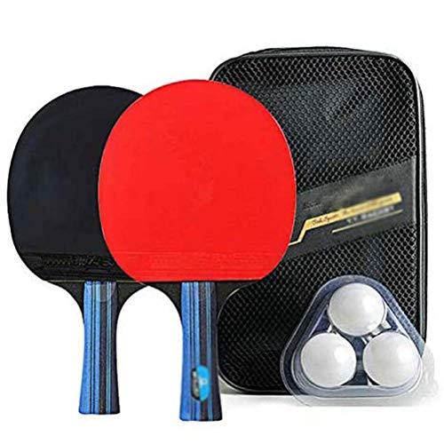 Ping Pong Paddle Set, Mesa de ping pong Paletas / raquetas Incluye paquete de 2 Professional Premium paletas de ping-pong, tenis de mesa 3 bolas, maletín de transporte de avanzada Inicio cubierta jueg