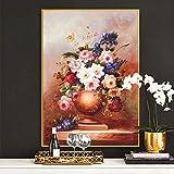 Cuadros modernos impresión sobre lienzo Florero Bodegón Clásico Lscape Flores 40x50cm sin marco DF16408 Impresión en Lienzo pintura al óleo