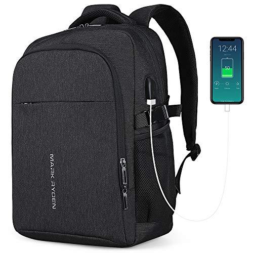 Mark Ryden professionelle Business-Rucksack für Männer multifunktionale Wasserabweisende Passform 15,6 Zoll Laptop-Tasche Mann mit USB-Aufladung für Schule Reisetasche (1,0 schwarz)