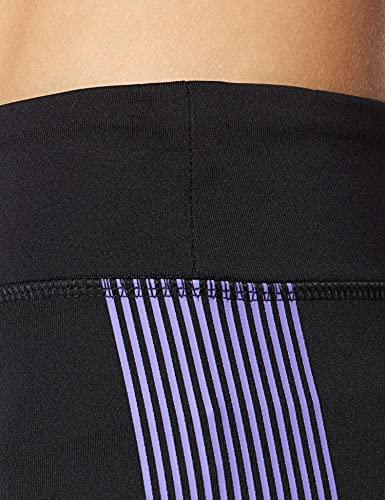 Marca Amazon - AURIQUE Bal181la18 - leggings deporte mujer Mujer, Negro (Black/Dahlia Purple), 46, Label:XXL
