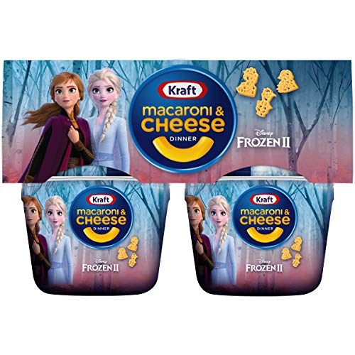 Kraft Easy Mac Frozen II Shapes Macaroni and Cheese Dinner 4  19 oz Cups