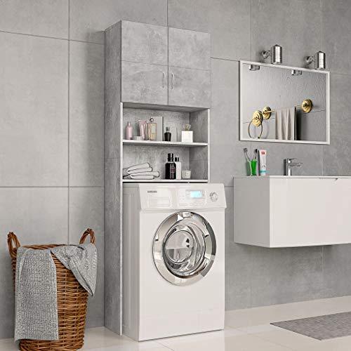 UnfadeMemory Armario de Lavadora Secadora,Alacena para Baño,Mueble de Baño,con 2 Puertas y...