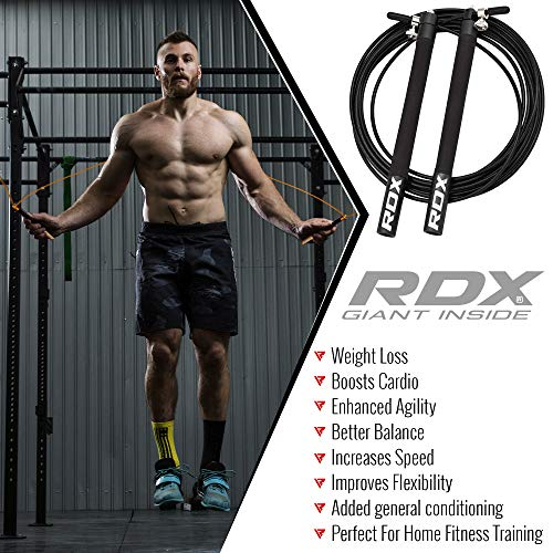 RDX-Skipping-Rope-Adjustable-Steel-Gym-Jump-Speed-Lose-Weight-Gymnastics-Fitness-MMA-Training-Boxing-Jumping-Metal-Cable-Workout-Exercise