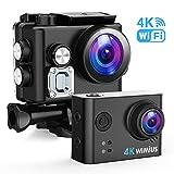WiMiUS Action Cam 4K 20MP WiFi HD Impermeabile Fotocamera 40M Videocamera Sportiva 170 Gradi...