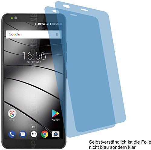 4ProTec I 2X Crystal Clear klar Schutzfolie für Gigaset GS370 Bildschirmschutzfolie Displayschutzfolie Schutzhülle Bildschirmschutz Bildschirmfolie Folie
