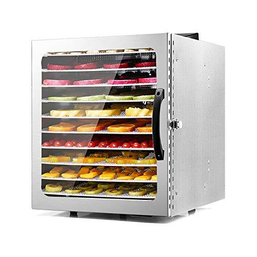 New CJSWT Food Dehydrator,Commercial Stainless Steel Dehydrator Raw Food Jerky Fruit,1000W Preserve ...