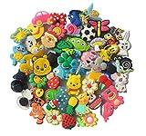 Sconosciuto 50 Pcs Different Shoe Charms for Croc Shoes & Bracelet Wristband Kids Party Bi...