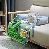 Cama para perro 2 en 1 y alfombrilla para mosquitos, alfombrilla de alimentación para perros, alfombrilla de actividad para mascotas para habilidades de forraje