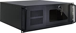 Inter-Tech IPC 4U-4088-S Estante Negro - Caja de Ordenador (Estante, Servidor, Acero, Negro, ATX,Micro ATX,uATX,Mini-ITX, 4U)