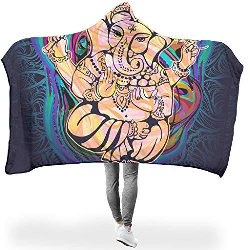 Dogedou Yoga Elephant Kuscheldecke/Wohndecke Super Weiche Large All Season Decke White 130x150cm