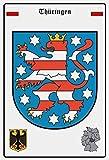 vielesguenstig-2013 Blechschild Schild 20x30cm - Thüringen Wappen Fahne Flagge B&esland Deutschland