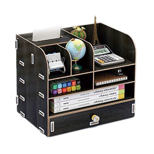 Unknow Oficina de Carpetas de Escritorio Caja de Almacenamiento de Tejidos Oficina de Papel A4 Caja de Suministros de Muchos Niveles compartida Acabado Rack estantería