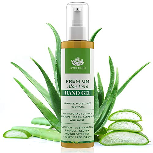 Advanced Aloe Vera Hand Purifying Gel - 100% Alcohol-Free With Antimicrobial Properties for Natural Protection of Kids and Adults - After-Sun Skincare Moisturizer to Cleanse and Hydrate Skin (200 ml)