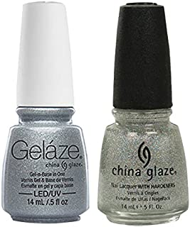 China Glaze Gelaze Tips and Toes Nail Polish, Fairy Dust, 2 Count
