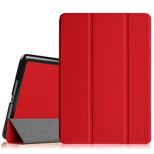 Fintie Hülle für iPad Air 2 (2014 Modell) - Superdünn Superleicht Smart Schutzhülle Hülle mit Standfunktion & Auto Schlaf/Wach Funktion, Rot