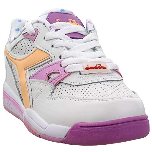 Diadora Womens Rebound Ace Valentine 2 Lace Up Sneakers Shoes Casual - White - Size 9.5 B