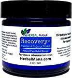 Recovery+ Cream - Extra Strength Muscle & Joint Pain Relief | 100% Natural Sore Muscle Relief, Pure Pharma Grade Magnesium, MSM, Frankincense, Helichrysum & Chamomile Essential Oils - Herbal Mana®