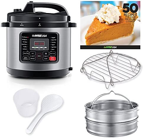 GoWISE USA 12 5 Quarts 12 in 1 Electric Pressure Cooker 50 Recipes for your Pressure Cooker product image