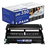 1 Pack DR-350 DR350 Black Drum Unit Replacement for Brother DCP-7010 7020 7025 IntelliFax 2820 2910 2920 2850 MFC-7220 7225 7820 7420 7820N HL-2040 2040N 2070N Printer(Toner is not Included).