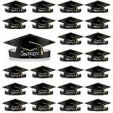 MIAHART 30 Pezzi Cappelli di carta per la laurea in carta per la laurea Tappo per la laurea con corona di carta regolabile per la decorazione di laurea per la cerimonia di laurea