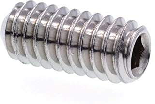 50 pcs 18-8 Stainless Steel Cup Point Set Screws 8-32 Thread x 1.25 Length
