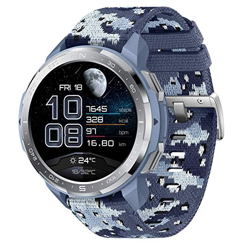 """HONOR Watch GS Pro Reloj Inteligente 48mm para Hombres Llamadas Bluetooth (Responder, Rechazar, Colgar una Llamada) Monitor SpO2, 1.39"""" AMOLED, Camuflaje Azul"""