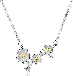 AMOYER Pendentif Collier Douce Fleur Colliers No/ël Boucles doreilles Cadeau Ensemble De Bijoux