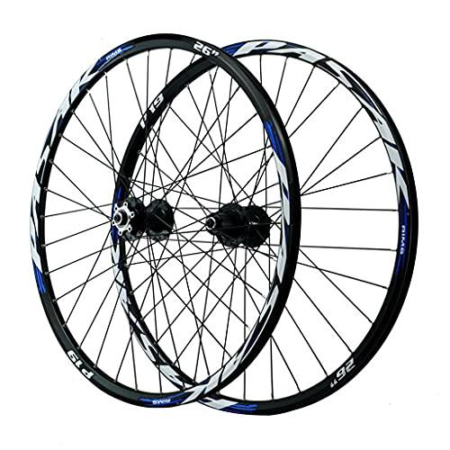 LvTu MTB Coppia Ruote Biciclette Freno a Disco Ruota Posteriore Anteriore 26 27.5 29 Pollici Doppio Muro Cerchio Lega di Alluminio (Size : 26 Inches)