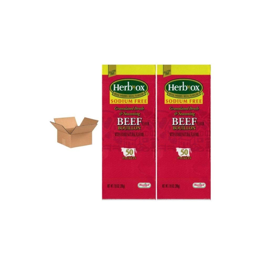 Hormel Herb Max 80% OFF Ox Beef Bouillon Sodium Packets 50 Cheap mail order specialty store Free 2 of Case
