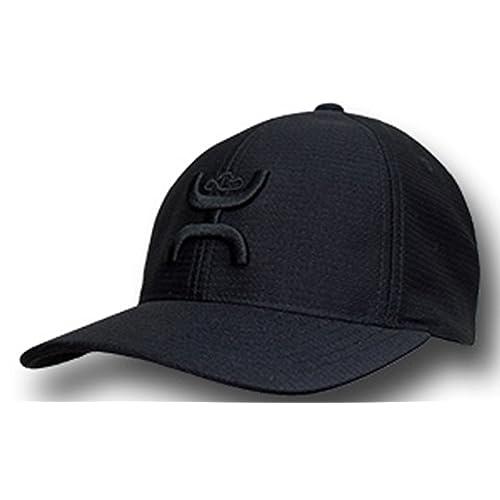 new product cb286 36603 Hooey Brand Black With Black Center Front Logo Flexfit Hat - 1772BK