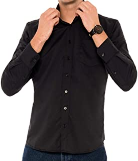 Sponsored Ad - Untucked Shirts for Men Long Sleeve - Dry Fit Untuck Casual Shirt - Slim Fit