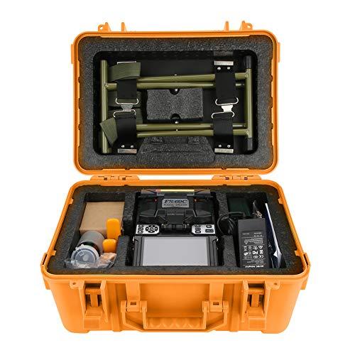 Fiber Optic Schweißgerät,ASHATA FS-60C Glasfaser Schweißmaschine Fiber Optic Fusion Splicer,Hochpräzise Spleißgerät Schweißen Maschine Optical Fiber Fusion Splicer Kit EU-Stecker(EU)