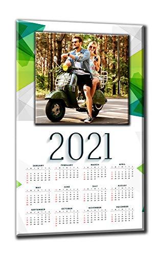 Calendario personalizzato con foto 2021 su tela cm.30x50 su pannello legno - Offerta 1+1...