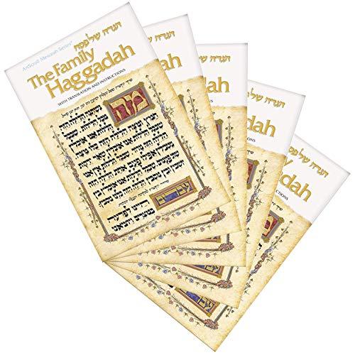 Family Haggadah: Hagadah Shel Pesah (Artscroll Mesorah Series) (English and Hebrew Edition) (5 Pack)