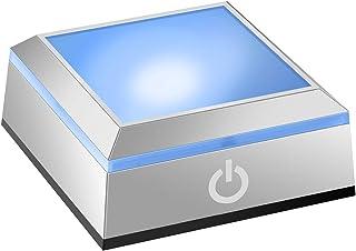 光るコースター led台座 ディスプレイライト スタンド イルミネーション台座 照明 レインボーコースター タッチスイッチ付き ライトアップ ステージ クリスタルハーバリウム飾り