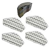 Lot de 4 lingettes microfibres de remplacement + filtre anti-calcaire pour le Steam & Clean de Thermostat (lavables en machine) …