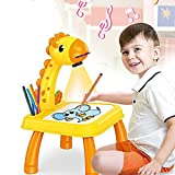 Drawing Projector Table for Kids,Trace and Draw Projector Toy,Art Painting Drawing Table Led Learning Projector Toddler Child Drawing Playset Educational Toys for Kids Boys Girls Age 3+ (#003)