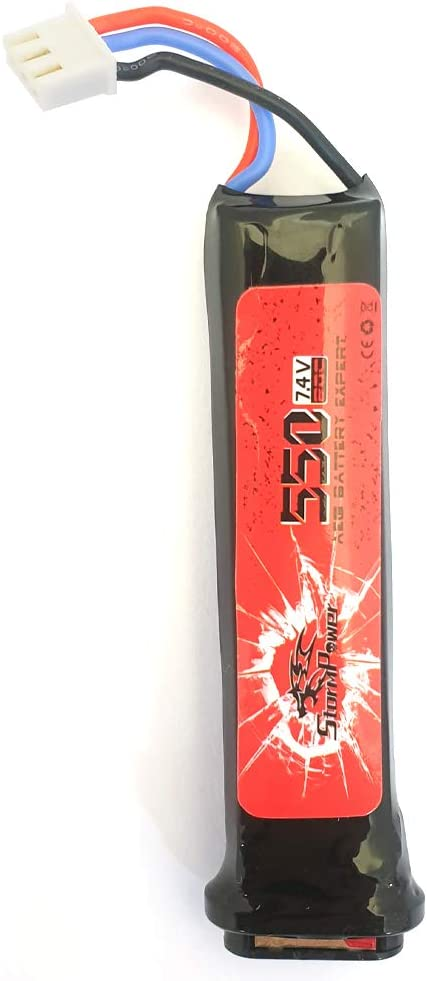 STORM POWER Batería Lipo 550 mAh 20 C pistolas eléctricas (7,4 V)
