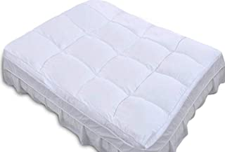 QUEEN ROSE Mattress Topper Pad Queen,Pillow Top Feather Bed/Mattress Pad,Down Alternative Pad,Soft and Firm,3