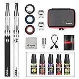 Salcar® Cigarrillo electrónico EVOD CE8 con doble kit de iniciación, batería recargable de...